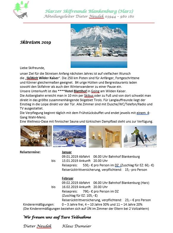 Skireisen 2019