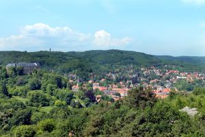 Blankenburg Große Schloss mit Villenviertel